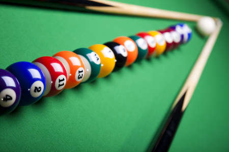 Billiard balls, pool photo