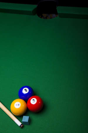 billiards tables: Close up shot of pool ball