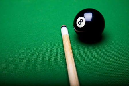 9 ball: Billiard ball close up