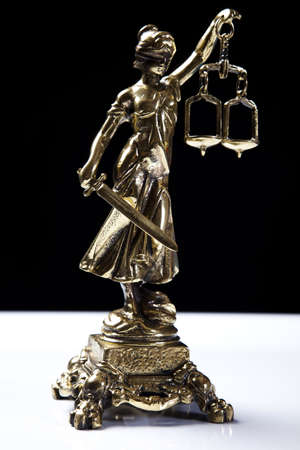 blind justice:  Lady of justice Stock Photo