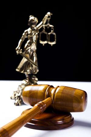 court order: Martillo de madera de los jueces