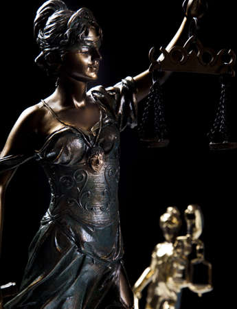 Hammer and god of law Stock Photo - 9126771