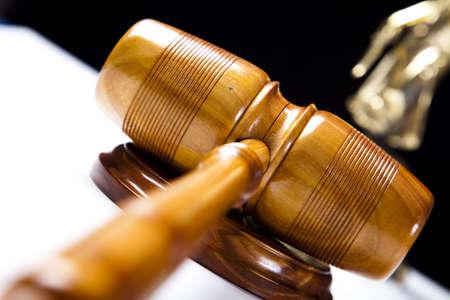 Judges wooden gavel photo