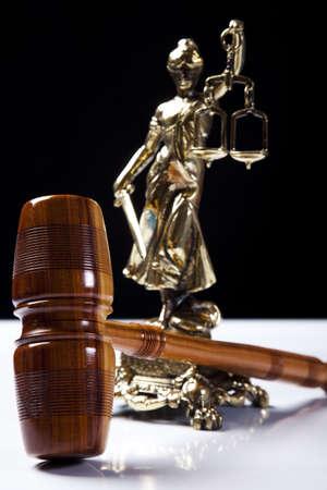 judicature: Judges wooden gavel