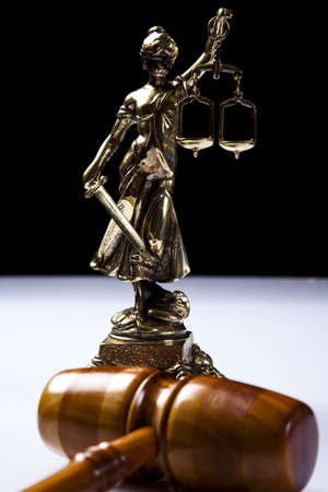 Justice Scale and Gavel Stock Photo - 9126707