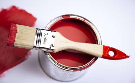Paint and brush Stock Photo - 9118473