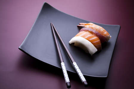 Traditional japanese food, Sushi photo