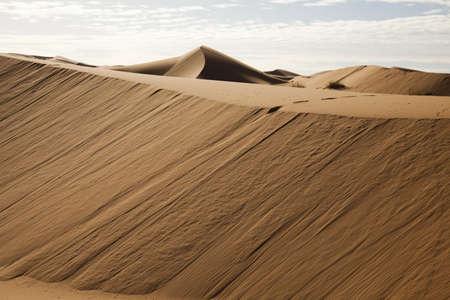 inhospitable: Desert landscape, merzouga, marocco