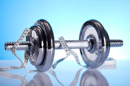 Measuring of dumbbell photo
