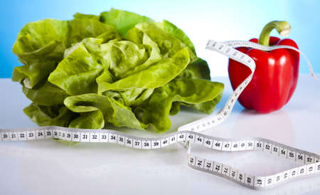 weight: Vegetable fitness Stock Photo
