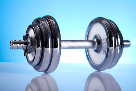 muscle toning: Dumbell  Stock Photo