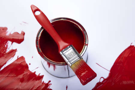 brush painting: Home decoration Stock Photo
