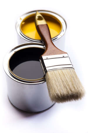 Brush and paint samples Stock Photo - 9950786