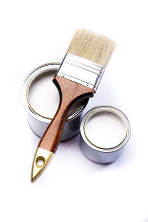 Brush and paint samples Stock Photo - 9950784