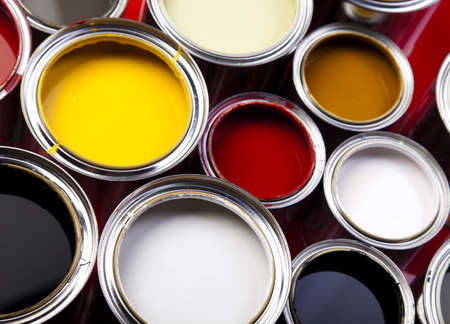 paint can: Colorful paint