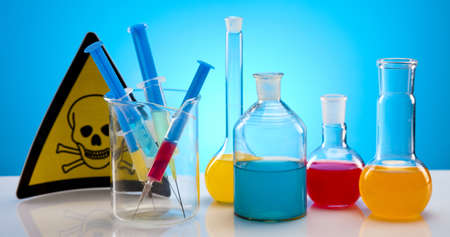 Chemistry equipment, laboratory glassware  Stock Photo - 9949066