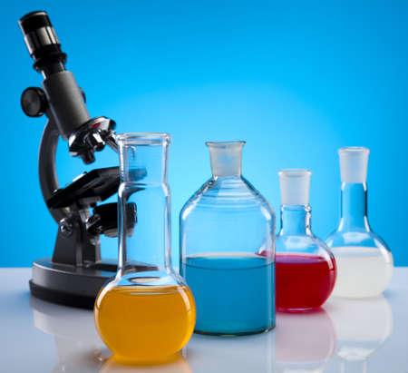 Chemical laboratory glassware equipment  photo