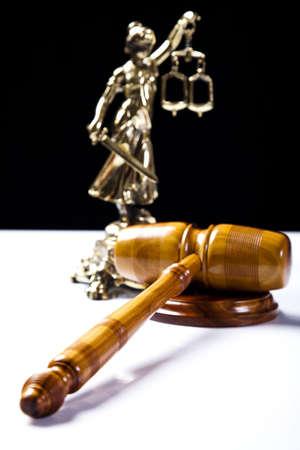 orden judicial: Balanza de la justicia Foto de archivo