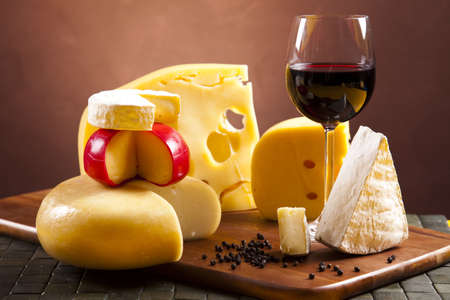 cheese plate: Cheese composition  Stock Photo