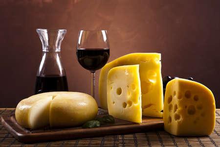 tabla de quesos: Junta de queso Foto de archivo