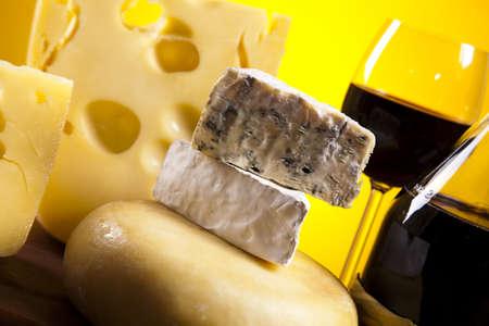 tabla de quesos: Bodegón de queso