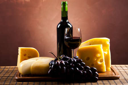 Wine and Cheese still life  photo