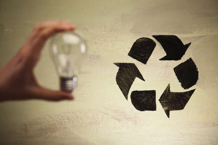 Recycle symbol, ecology Stock Photo - 10079446