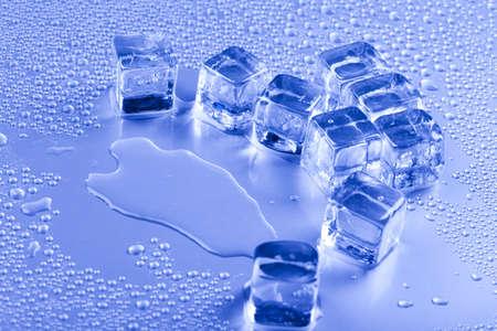 cubos de hielo: Fondo con cubitos de hielo