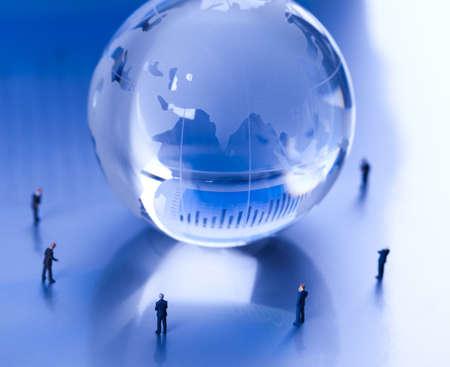 share market: Team work of businessman