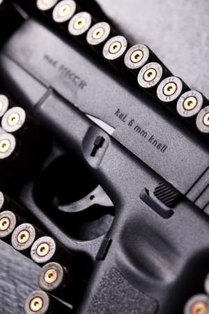 Ammunition and automatic handgun Stock Photo - 10905050