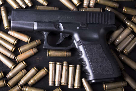 Ammunition and automatic handgun Stock Photo - 11274710