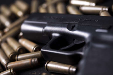 Ammunition and automatic handgun  Stock Photo - 10847591