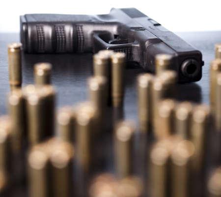 Ammunition and automatic handgun  Stock Photo - 10847959