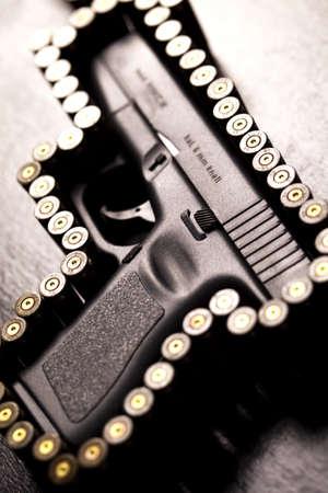 Ammunition and automatic handgun  photo