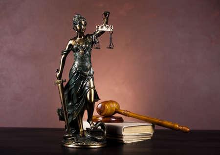 Estatua de la dama de la justicia Foto de archivo - 10873456