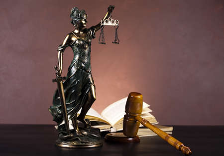blind justice: Scales of Justice and Law