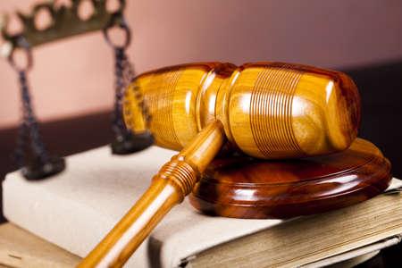 Wooden gavel barrister Stock Photo - 10830491