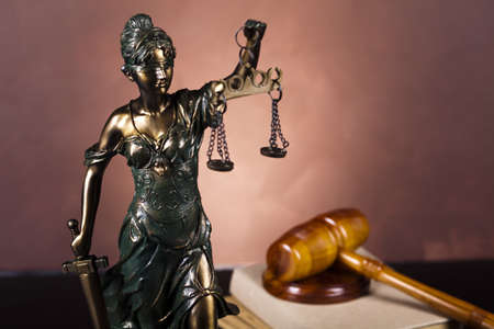 blind justice: Lady of justice, Law Stock Photo