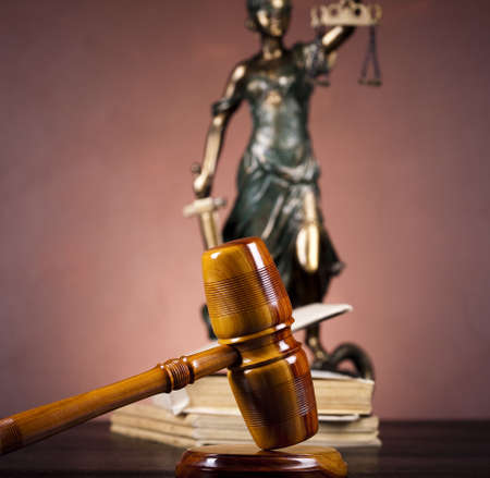 Antique statue of justice, law Stock Photo - 10830468