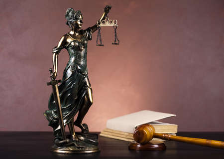 judiciary: Lady of justice, Law Stock Photo