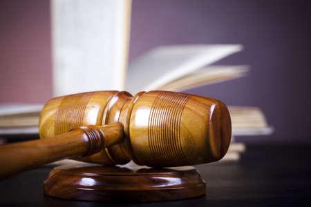court order: Concepto de derecho y la justicia Foto de archivo