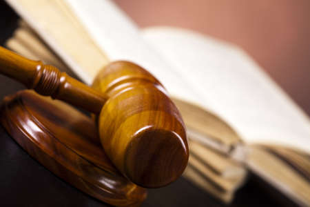 court: Wooden gavel barrister