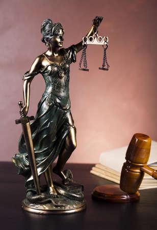 estatua de la justicia: Justicia estatua, la Ley Foto de archivo