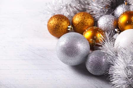 balls decorated: Christmas frame