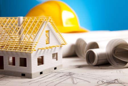 geodesy: Building Home  Stock Photo