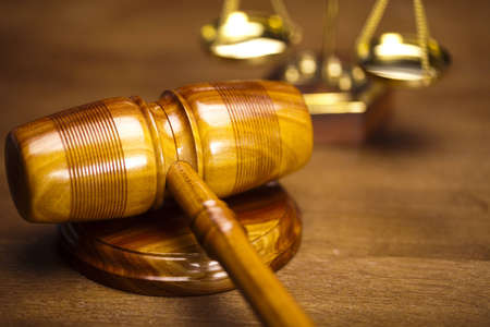 courthouse: Judges wooden gavel