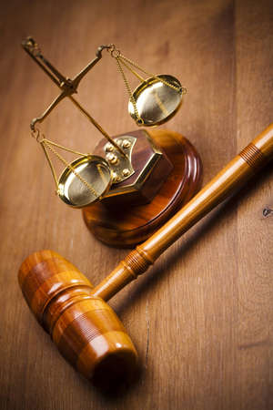 criminal law: Justice Scale and Gavel