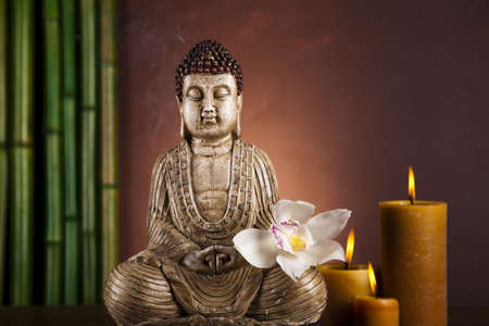Still life with buddha photo