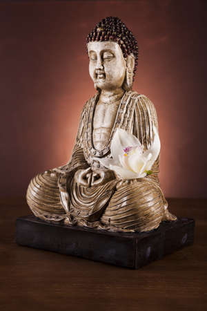 Zen buddha statue photo
