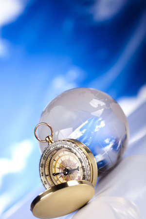 Compass and bluse sky photo